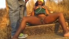 Nasty African Slave Desires Being Abused Outdoors