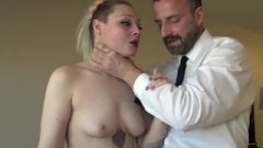 Hardfucked British Skank Choked And Fed With Doms Spunk