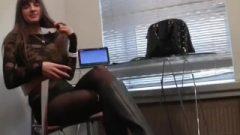 White Girls Feet Foot Tease POV Student Stinky Nylons! Humiliation JOI