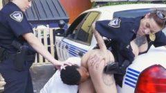 Speeding Drivers Monster Black Dick Abused By Female Po-Po
