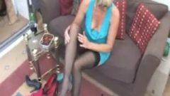 Melissa Spicy Mature Blonde In Tight Minidress Upskirt Panty Flashing !