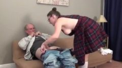 Grandpa With Enormous Tool Abused Filthy Young