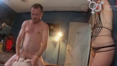 Wife Suffers Utter Humiliation At The Hands Of Spurting Whore And Partner