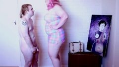 Short Chastity Boy Dominated By Tall Amazon Giantess – Pastel Goddess